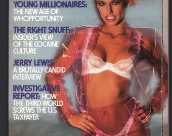 Mature Vintage Penthouse Magazine Mens Girlie Pinup : May 1984 VG+ White Pages Intact Centerfold