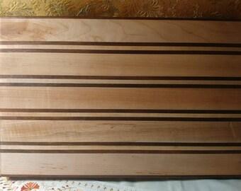 Handmade edge-grain chopping block (walnut & maple)