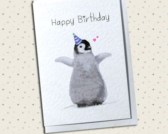 Baby Penguin Greetings Card - Any Occasion - Love, Anniversary, Birthday