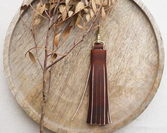 Tassel keyring, blue tassel, bag charm, bag accessory, charm, fringing tassel, key fob, Handmade in UK