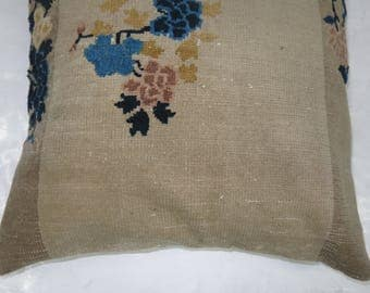 Chinese Rug Floor Pillow 8406e 27''x28''