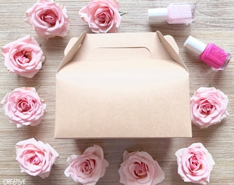 Kraft gable box / favor box / gift box / welcome gift box / wedding favors / small gable boxes / petal toss boxes / bridesmaid box