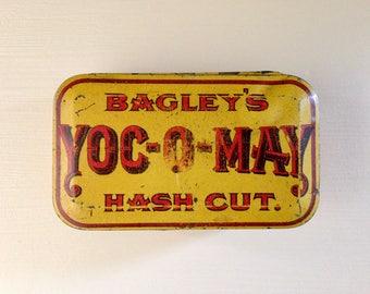 vintage Bagley's Yoc-O-May tin/old tobacco tin