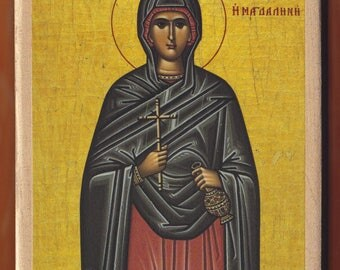Mary Magdalene, the Holy Myrrh-bearer.Christian orthodox icon.FREE SHIPPING