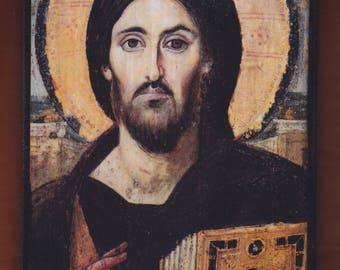 Christ Pantocrator, Monastery of St. Catherine of Sinai, Christian orthodox icon.FREE SHIPPING