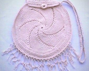 Vintage Hand Knitted Crocheted Purse Shoulder Bag Boho Bohemian Gypsy Goddess Hippie Festival Best Selling Items