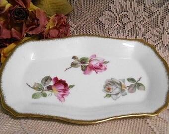Vintage Westminster Australia Cake Plate  ~  Shabby Pink Roses