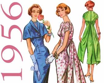 "1950s Cocktail Dress Capelet Pattern McCALLS 3952 bust 34"" Dress With Train Sheath Dress 1950 Party Dress Vintage Dress Vintage Cape Pattern"