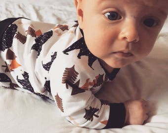 Jumper, bears, white, baby clothes, hipster baby, organic baby clothes, cool, sweatshirt, Andrea Lauren, baby boy, baby girl