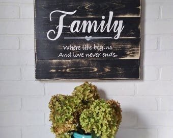 Gift, Family rules, living room decor, living room sign, handpainted, wood sign, wood decor, rustic decor, decor for the home, family room,