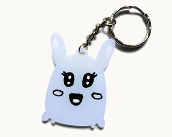 Blue Bunny Keychain - Animal Keychain - Acrylic Keychain - Kawaii Keychain - Cute Keychain - Cute Charm - Birthday Gift - Cute Accessory