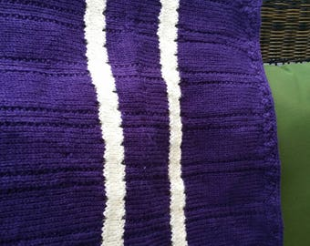 Deep purple drape baby blanket