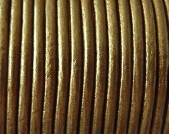 leather cord 2 mm gold metalic PR0850 100 m
