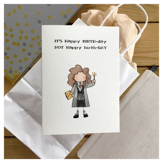 Hermione Birthday Card hermione harry potter birthday – Harry Potter Birthday Card