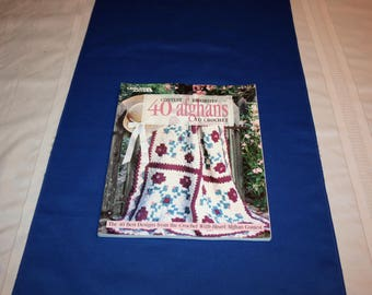 Vintage Contest Favorites 40 Afghans to Crochet Book Afghan Patterns By Leisure Arts 1998