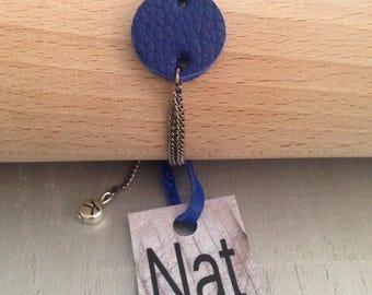 Bracelet leather blue CERKLE