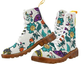 Martin Boots Floral