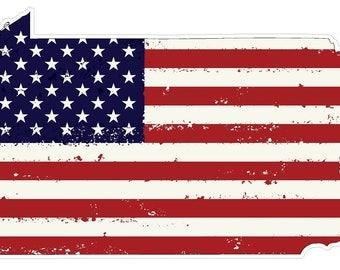 Pennsylvania State (J39) USA Flag Distressed Vinyl Decal Sticker Car/Truck Laptop/Netbook Window