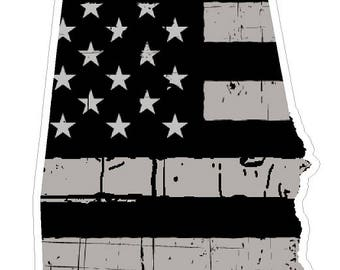 Alabama State (N3) Distressed Flag Vinyl Decal Sticker Car/Truck Laptop/Netbook Window