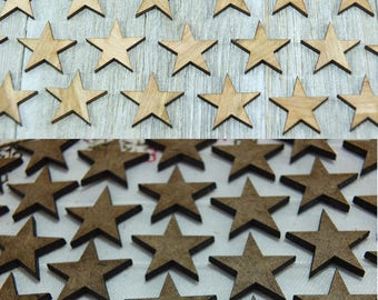 5 pieces/lot laser-cut stars- crafting supplies