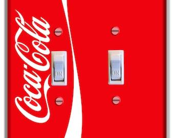 Coke Coca Cola Light Switch Plate Cover Kitchen Decor Print