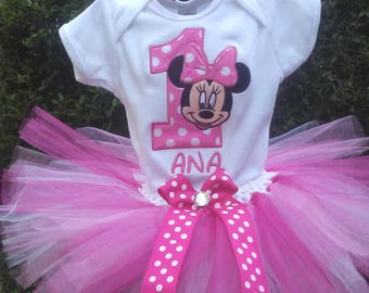 Hot Pink Minnie Mouse 1st Birthday Outfit Pink Minnie Mouse Birthday Outfit Minnie Mouse 1st Birthday Shirt Minnie Mouse Birthday Dress