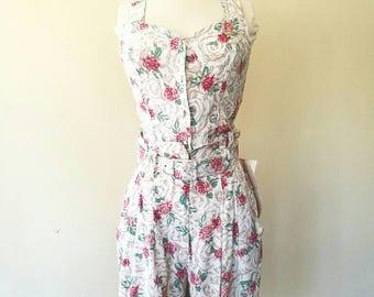 Vintage RAMPAGE  floral vest top & high waist shorts set new old stock