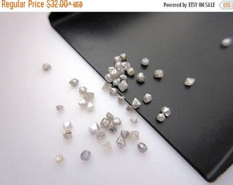 ON SALE 50% 1 Carat Tiny 1mm To 2mm Raw Rough Natural Grey Diamond Crystal, Grey Diamond Loose Crystals, DDS458/2