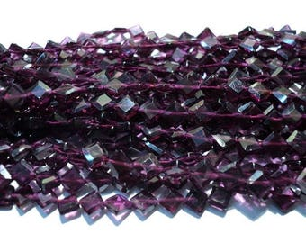 ON SALE 50% Garnet/ Wholesale Beads/ Gemstone Beads/ Kite Shaped Beads - 5mm Each - 5 Strands- 14 Inches Each