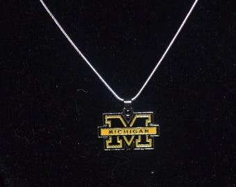 Michigan Wolverines Necklace