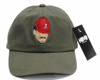 Chance The Rapper Dad Hat - Olive Green In Twilled Cotton