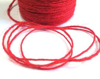 10 m red 2mm hemp cord
