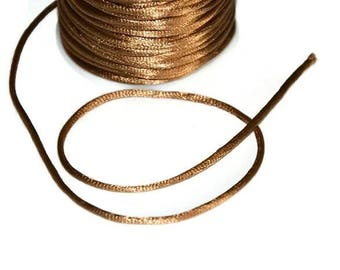 10 meters wire light brown nylon Rattail 2mm