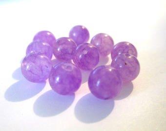 10 pearls 8mm purple natural jade (5)