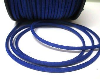 Dark Blue Suede 3 mm suede cord 3 m