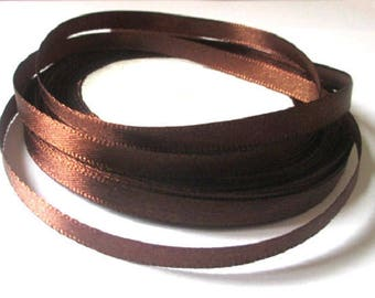 23 m 6mm chocolate satin ribbon in reel