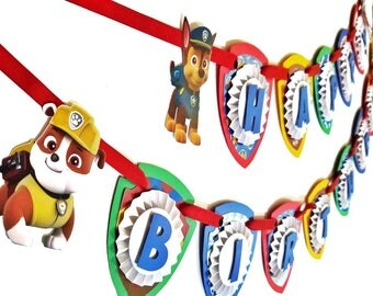 Paw Patrol Banner, Paw Patrol Party, Paw Patrol Birthday Party. Paw Patrol Party Decor, Paw Patrol Party Supplies, Paw Patrol Sign