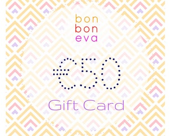 Bonboneva Lingerie Gift Card Voucher: Last Minute Gift for Her to Her Liking - Lingerie Gift Card Printable Instant Download