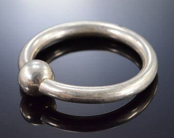 Tiffany & Co. Simple Baby Rattle Ring Sterling Silver