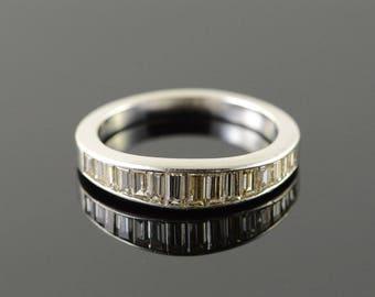1.50 CTW Diamond Baguette Wedding Band Ring Platinum