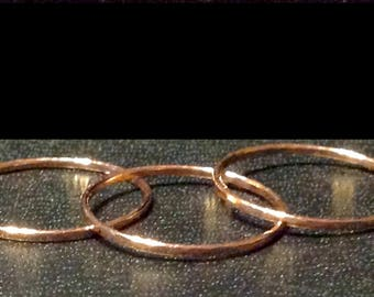 Copper Hammered Rings - Sweet & Stackable - Petite - Wear them on all your fingers or toes!