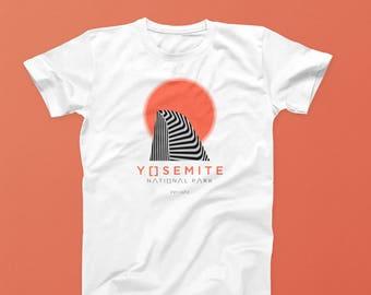 Yosemite T-Shirt - Premium Fitted California Tee - Yosemite National Park T-Shirt - Half Dome Shirt - El Capitan Vintage T-shirt