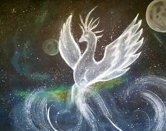 Acrylic Painting ,Wall Art, Beautiful Universe Art, Galaxy Painting, Astrology art