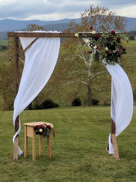 Rustic Wood Wedding Arbor Farmhouse County Arch