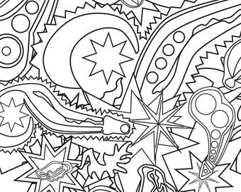 """""""Pure Filth 2"""" Naughty Adult Coloring Page"""