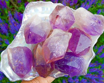 Large Raw Amethyst Crystal Point, Crystal Quartz, Reiki Healing, Crystal Points, Mineral Specimens, Amethyst Point, Highly Charged Gems
