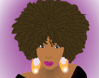 Printables: Afro American Woman