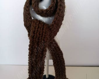 Handknitted Long Scarf for Blythe, Azone, Momoko, Barbie, Ken, Pullip, Ever After, Monster High, FR, BJD dolls