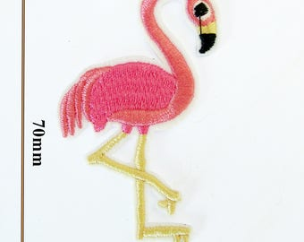 Flamingo Iron on Patch patches sew applique badge flamingo fabric embroidered craft P89