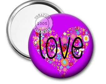 50 mm Pocket mirror love REF:1086